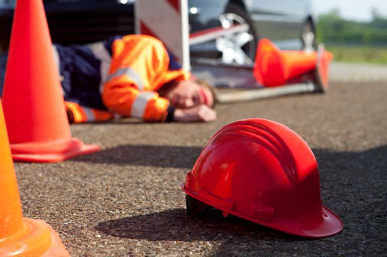accident sur un chantier