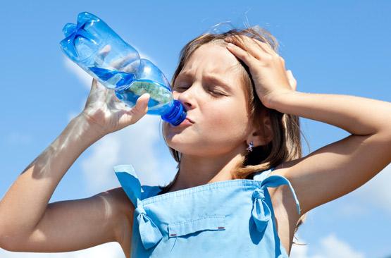 La canicule cause déshydratation, coups de chaleur et