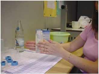 préparation du biberon