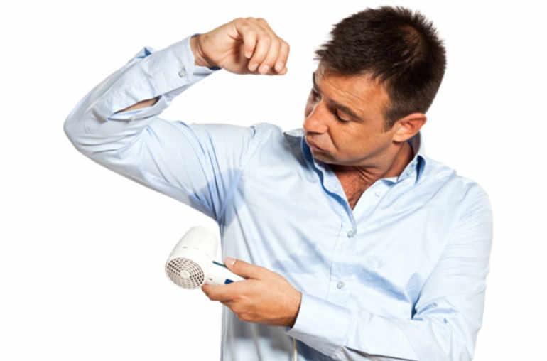 probleme de transpiration des aisselles