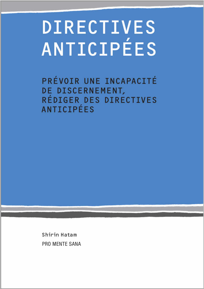 couverture de la brochure : directive anticipée
